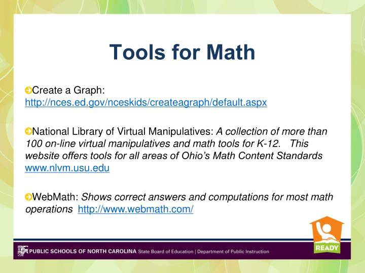 Tools for Math