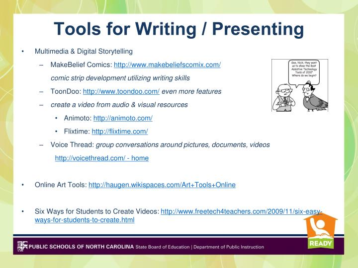 Tools for Writing / Presenting