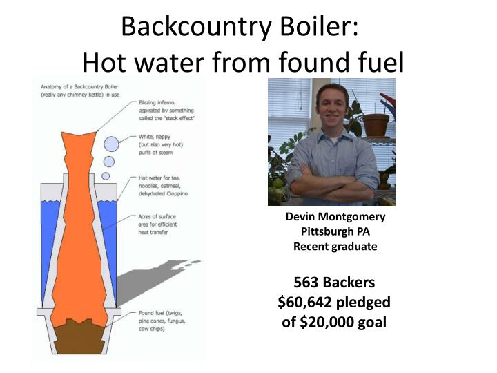 Backcountry Boiler: