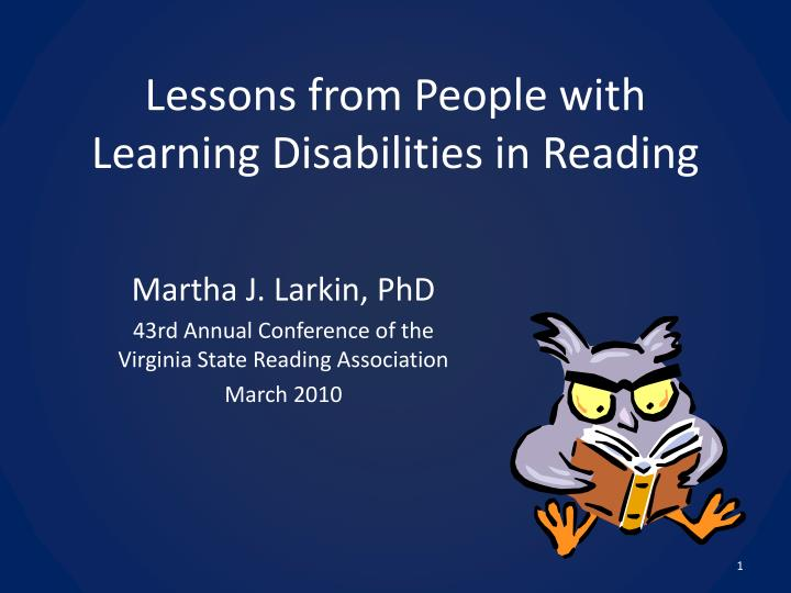 lessons from people with learning disabilities in reading