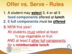offer vs serve rules