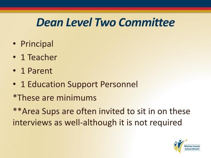 Dean Level Two Committee