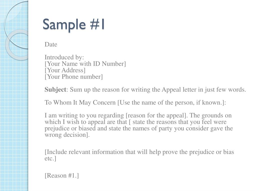 Writing An Appeal Letter from image1.slideserve.com