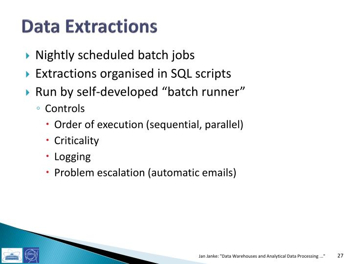 Data Extractions