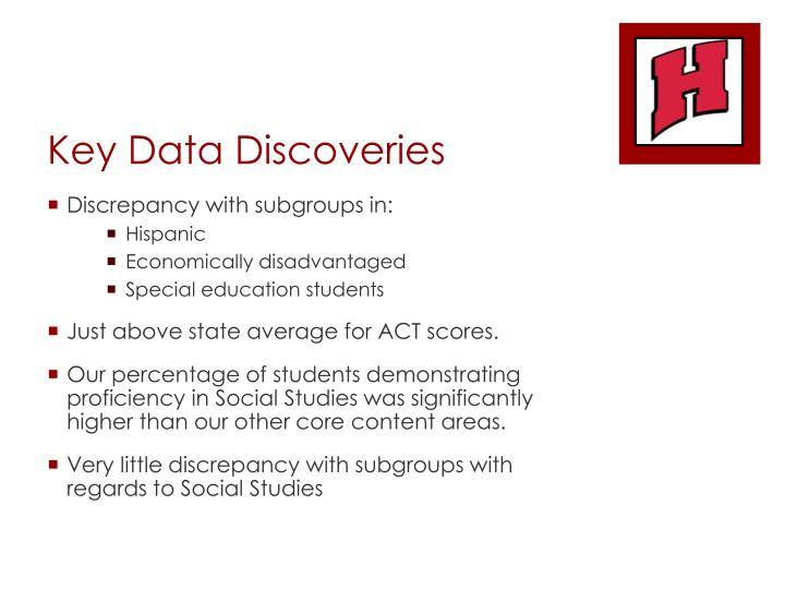 Key Data Discoveries