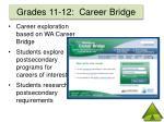 grades 11 12 career bridge