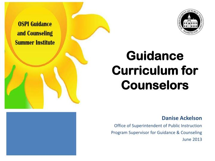 guidance curriculum for counselors n.