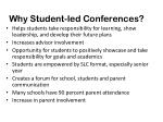 why student led conferences