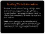 omitting words intermediate