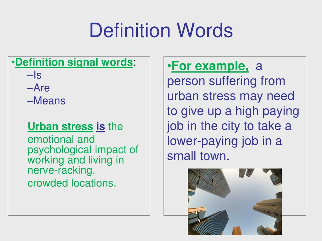 PPT - Signal Words & Patterns of Organization PowerPoint
