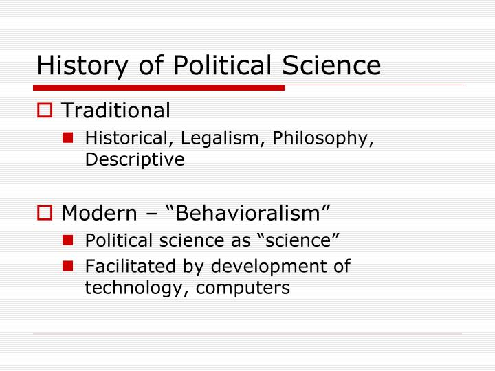history of political science n.