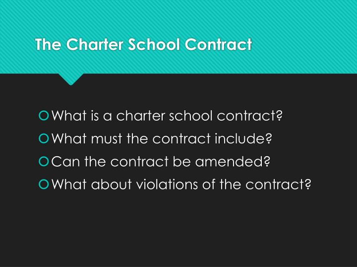 The charter school contract