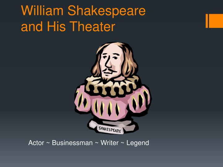 william shakespeare and his theater n.