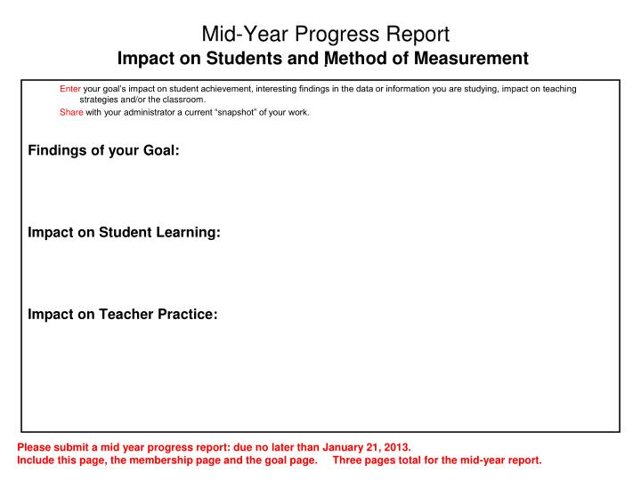 Mid-Year Progress Report