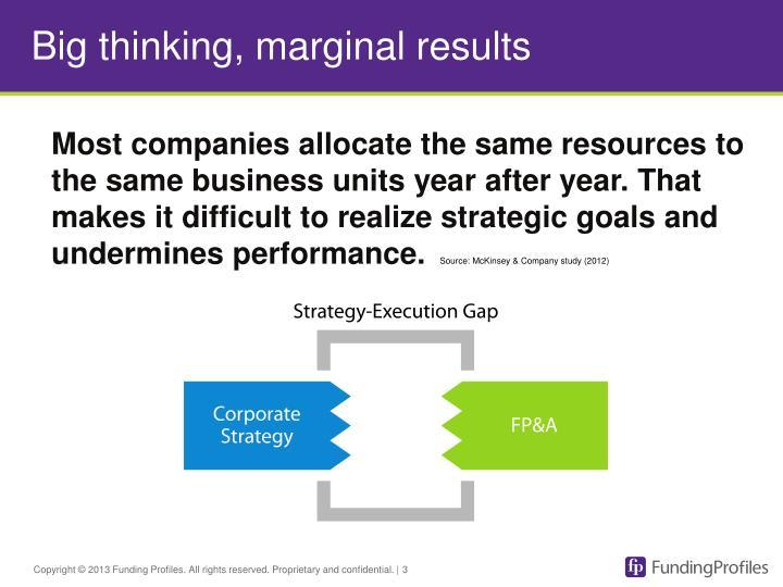Big thinking marginal results