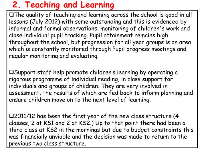 2. Teaching and Learning