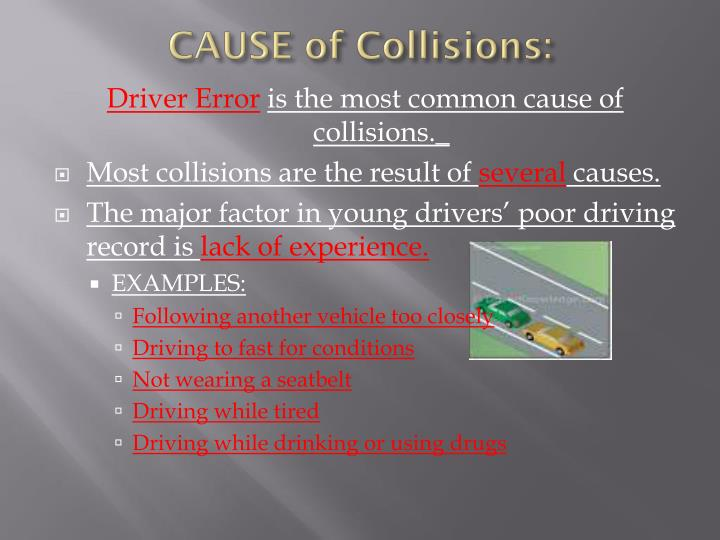 who causes collisions essay Causes and effects of road accidents home essay samples causes and effects of road accidents accidents are described as tragic.