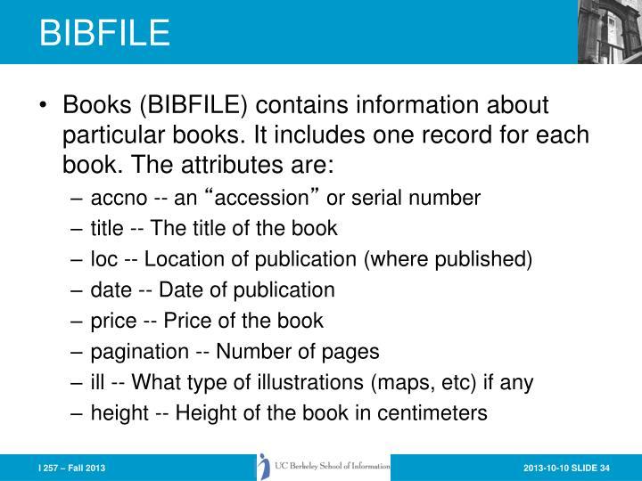 BIBFILE