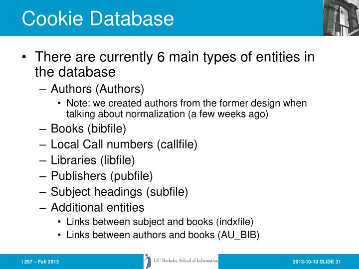 Cookie Database