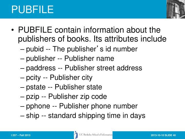 PUBFILE
