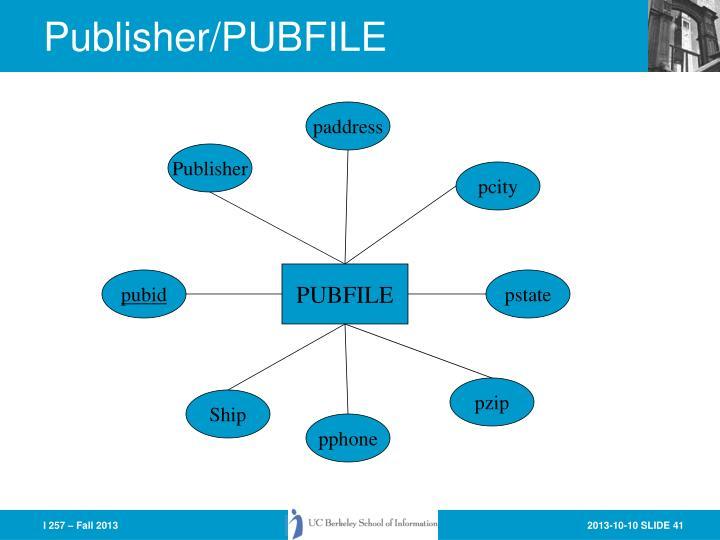 Publisher/PUBFILE