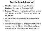antebellum education