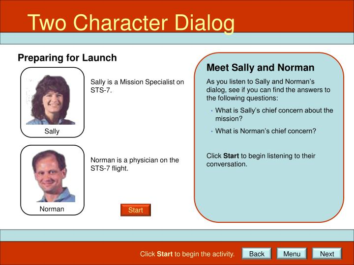 Two Character Dialog