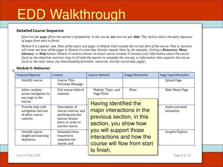EDD Walkthrough