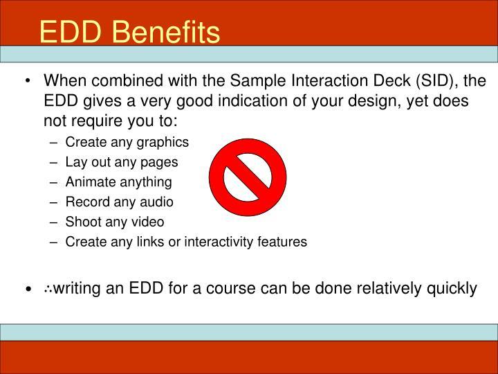 EDD Benefits
