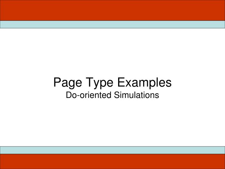 Page Type Examples
