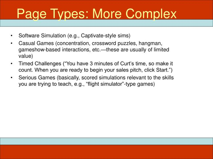 Page Types: More Complex