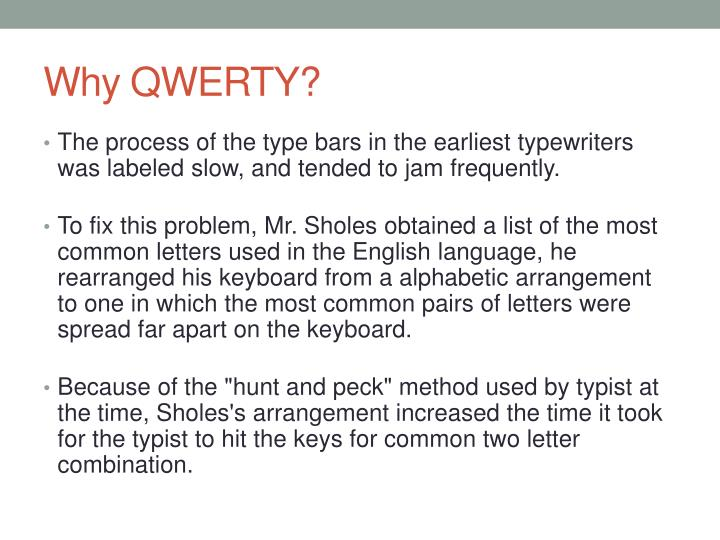 Why QWERTY?