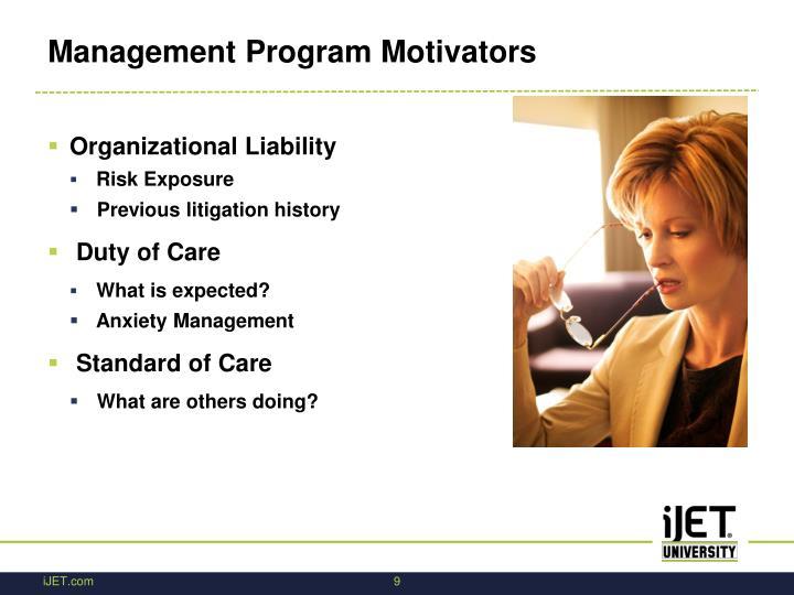 Management Program Motivators