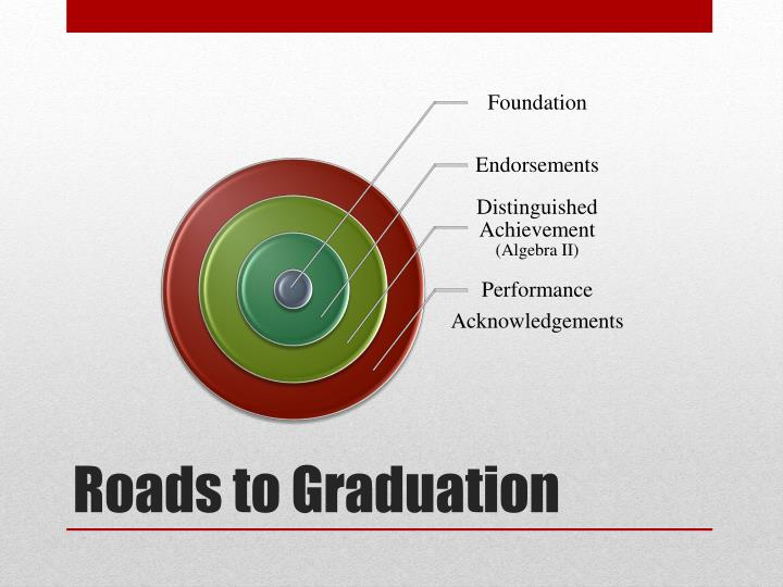 Roads to Graduation