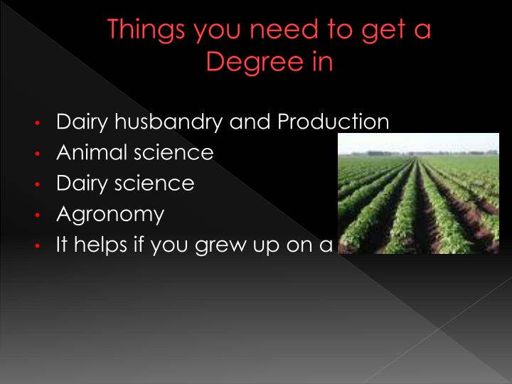 Things you need to get a Degree in