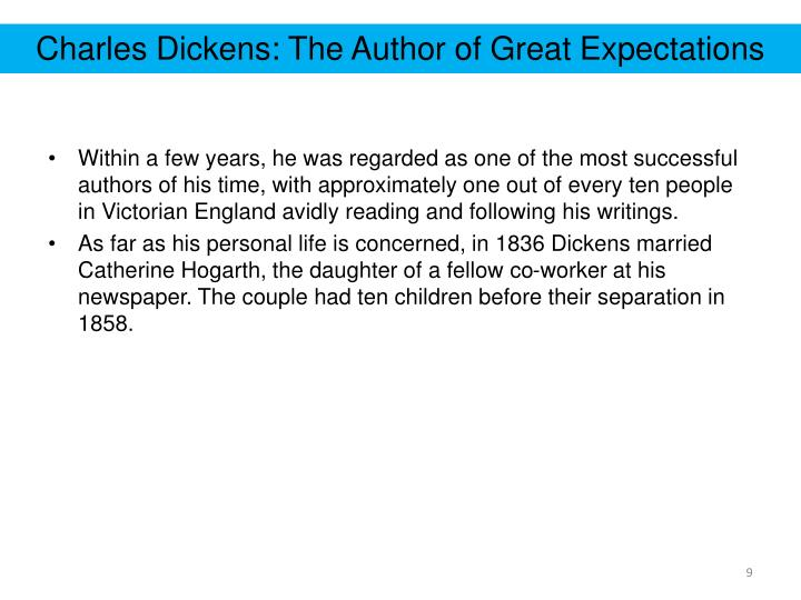 Ppt Great Expectations Introduction To The Author Charles Dickens