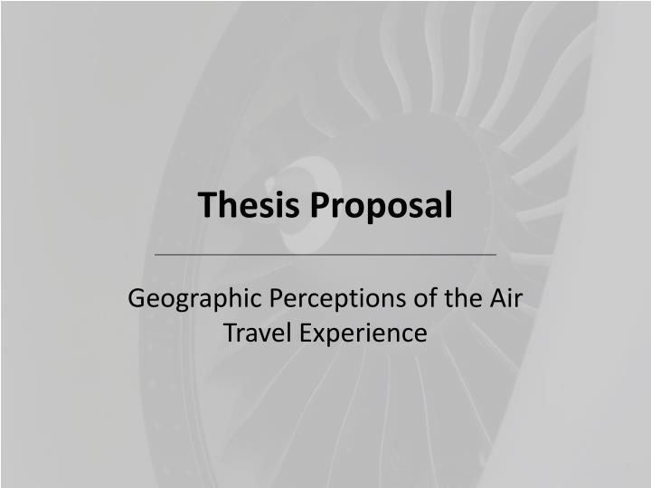 thesis proposal for finance