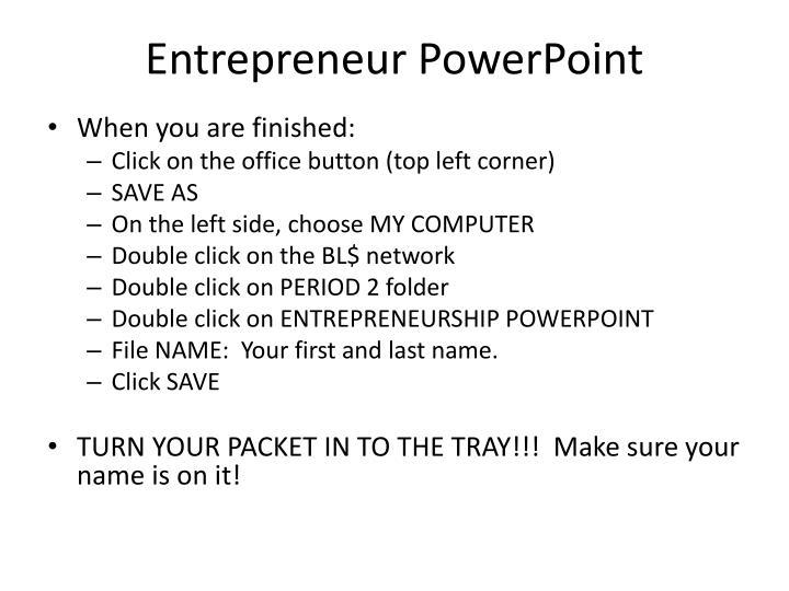 Entrepreneur PowerPoint