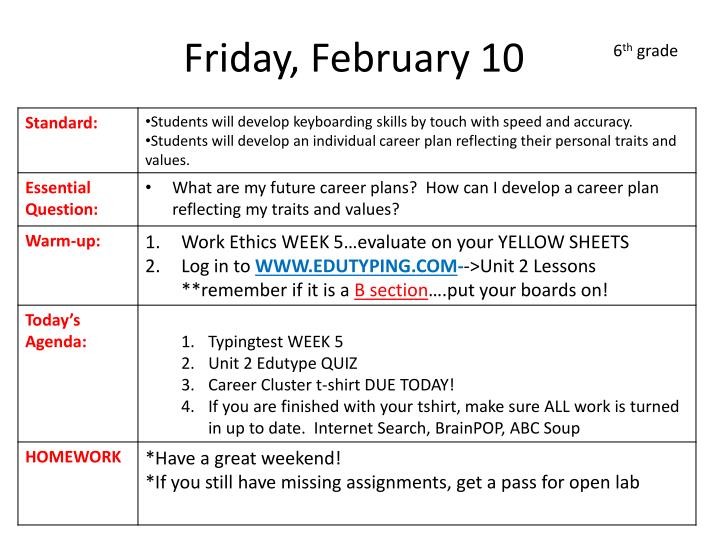 Friday, February 10