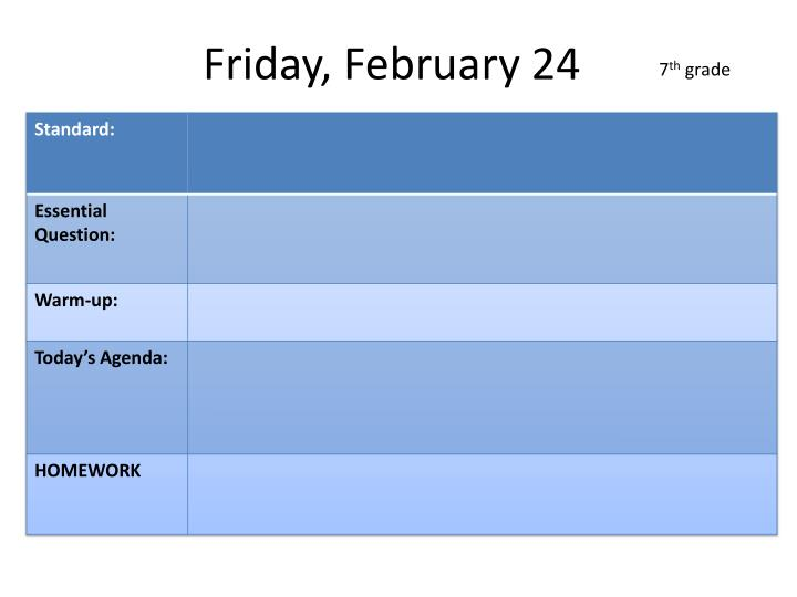 Friday, February 24