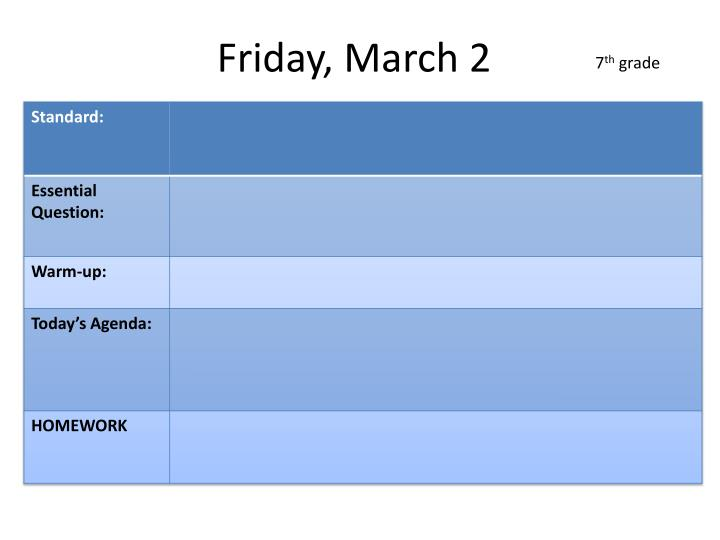 Friday, March 2