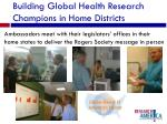 building global health research champions in home districts