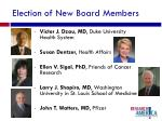 election of new board members