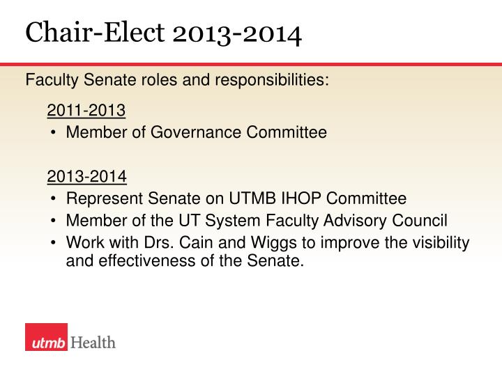 Chair-Elect 2013-2014