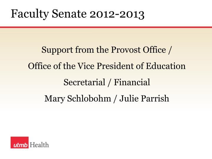 Faculty Senate 2012-2013