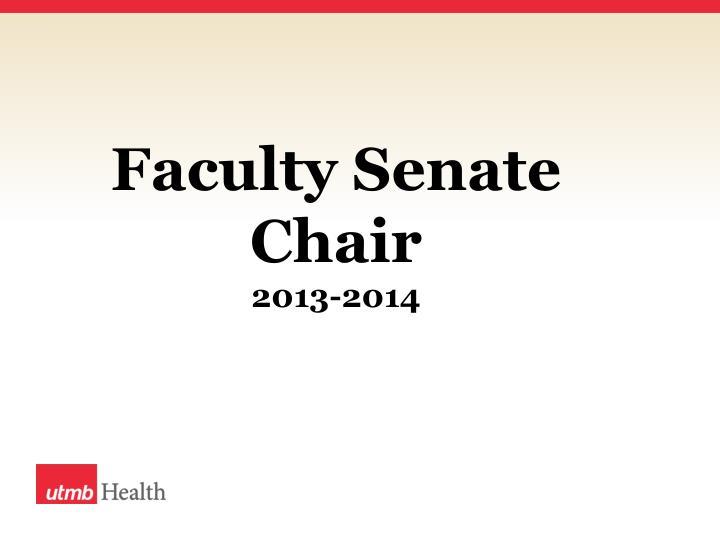 Faculty Senate Chair