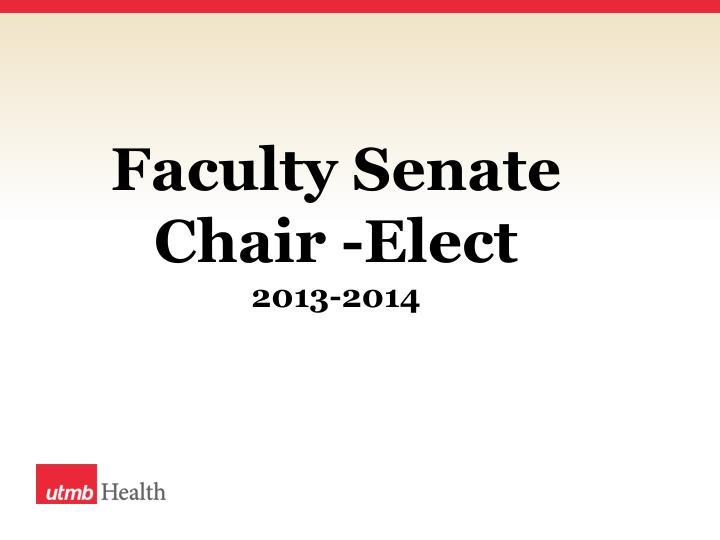 Faculty Senate Chair -Elect