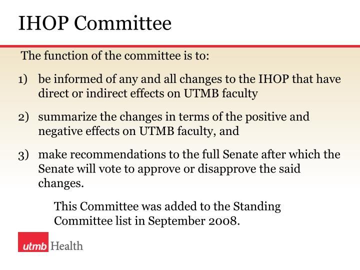 IHOP Committee