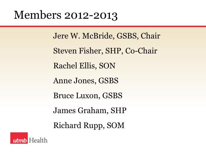 Members 2012-2013