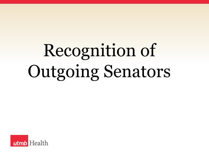 Recognition of Outgoing
